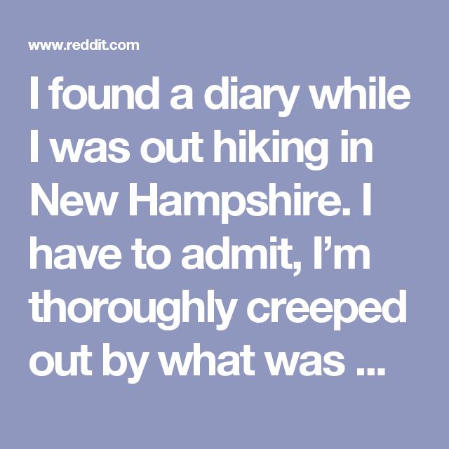i found a diary