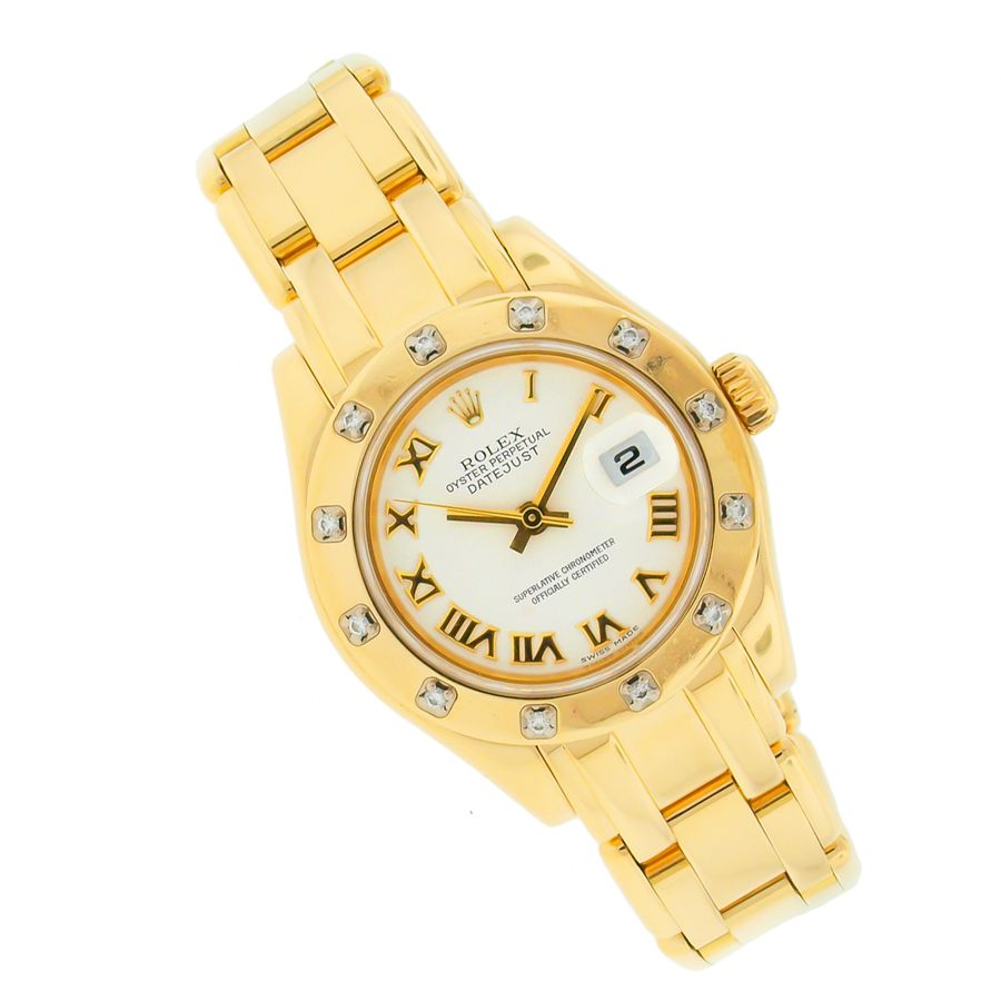 Ladies 18k Rolex Pearlmaster This Watch Is Stylish As Becomes Extremely Special As A Gift Rolex Prices Used Rolex Stylish Watches
