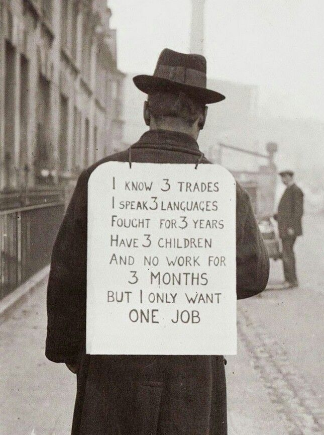 Job hunting in the 1930's