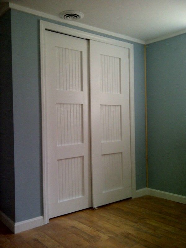 Bypass Closet Doors Do It Yourself Home Projects From Ana White Diy Closet Doors Closet Door Makeover Closet Doors