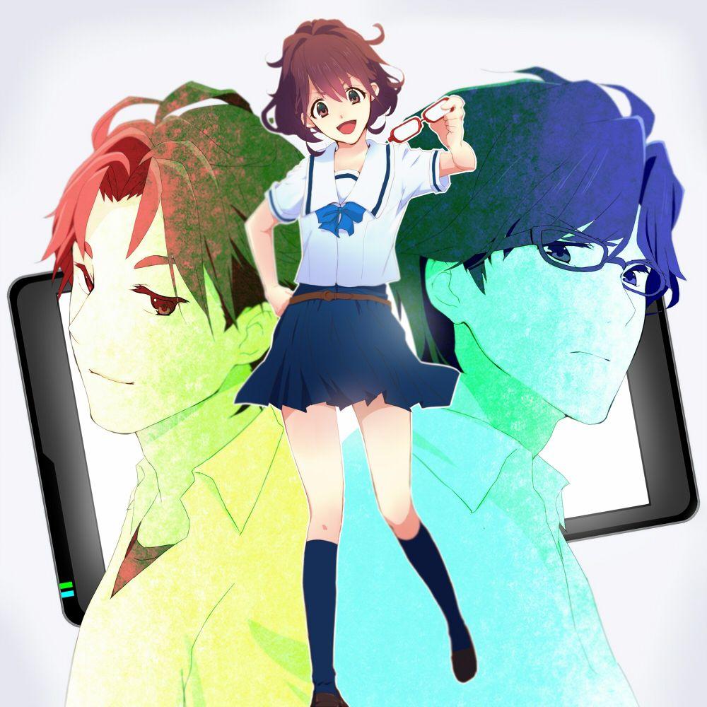 Robotics;Notes, Akiho, Kaito, and Subaru Anime, Anime