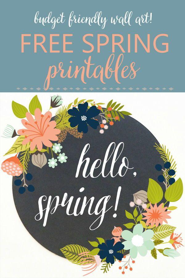 Modern Farmhouse Printables For Spring Spring Decor