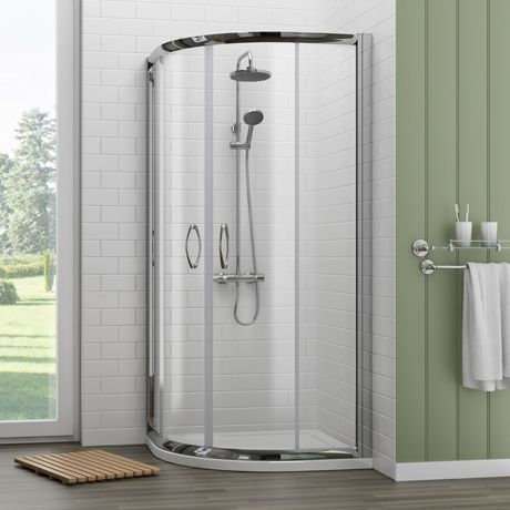 Newark 800 X 800mm Quadrant Shower Enclosure With Pearlstone Tray At Victorian Plumbing Uk In 2020 Quadrant Shower Enclosures Quadrant Shower Corner Shower Enclosures