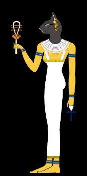 Bastet Diosa Egipcia Que Estaba Representada Bajo La Forma De Un