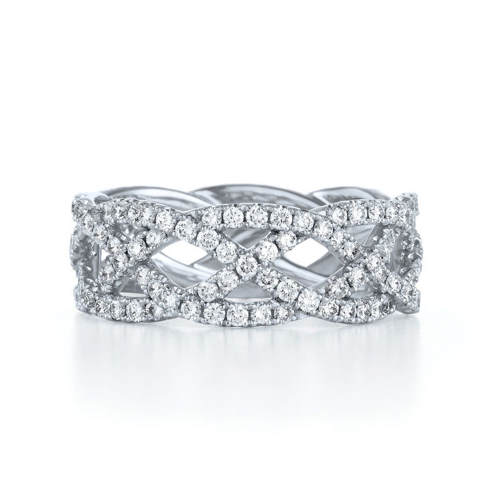 102a58a68 Four row woven ring in 18K white gold. Alternate colors and metals  available. Style No. 14383