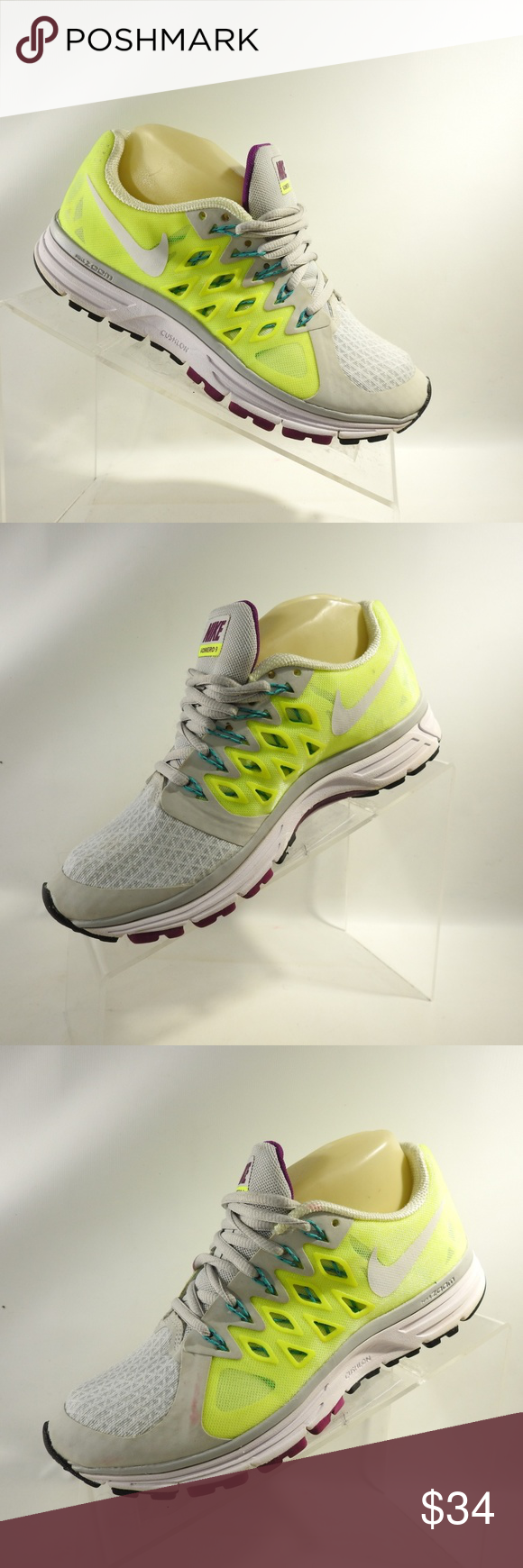 sports shoes 63594 8e1f3 Nike Zoom Vomero 9 Sz 6.5 Running Shoes For Women Nike Zoom Vomero 9  642196-007 Size 6.5 M Gray Volt mesh Running Shoes For Women Please note  that many of ...