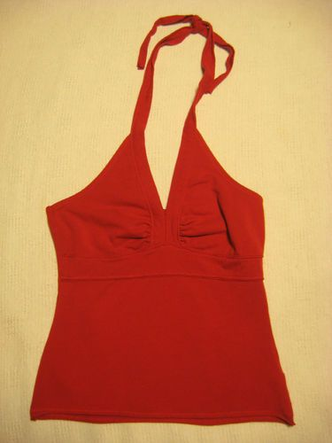 Red Halter Top Juniors Large SO Wear It Declare It STRETCH Summer Hot  BEST OFFER