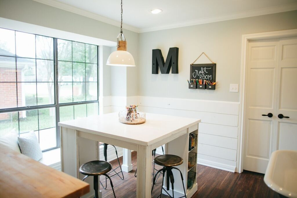 We Used Pinewood To Create Shiplap Wainscoting For The