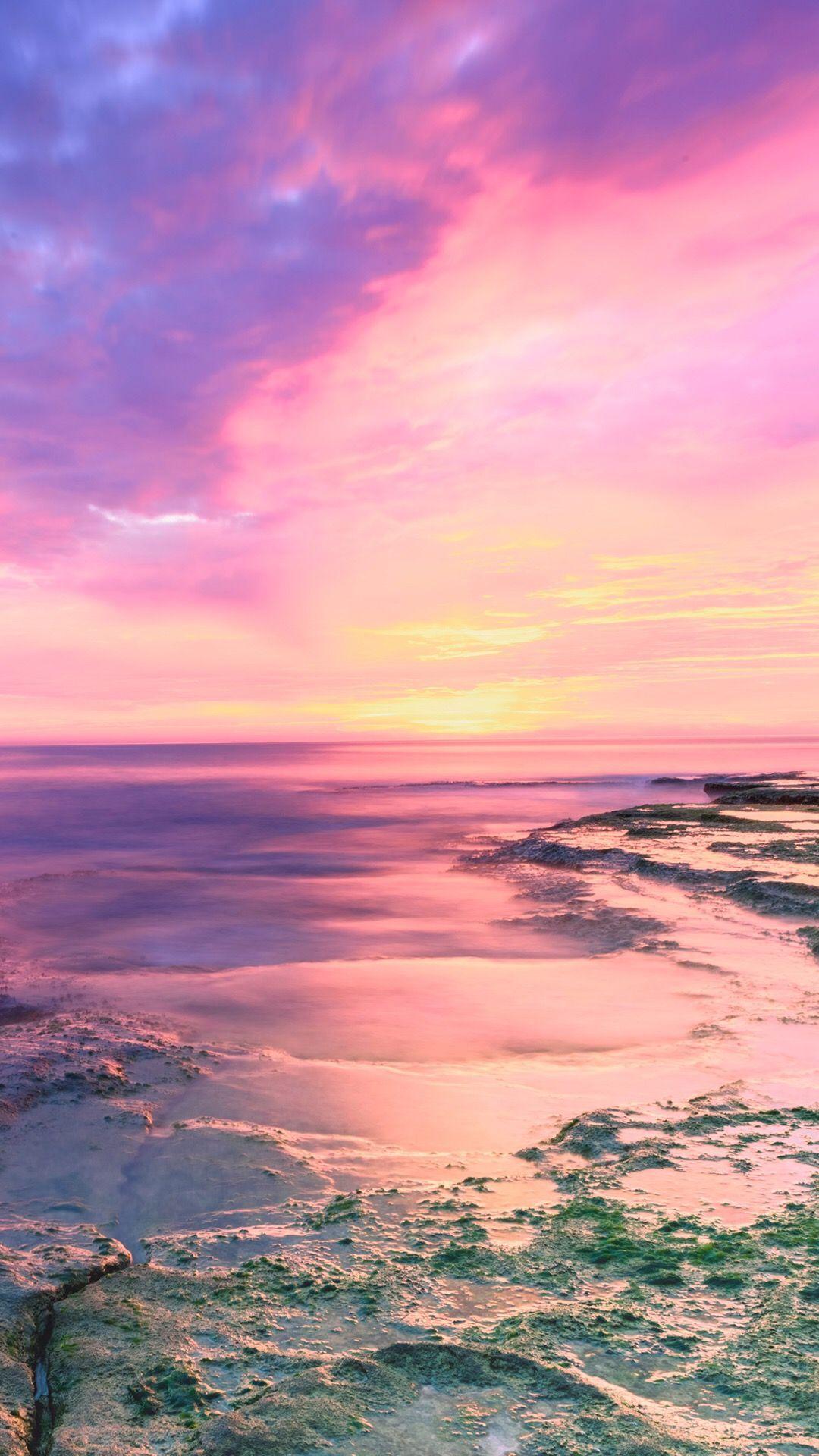 Pink Beach Cute Photos Iphone Wallpaper Sunset Iphone Wallpaper Beach Sunset Wallpaper Sunset Wallpaper