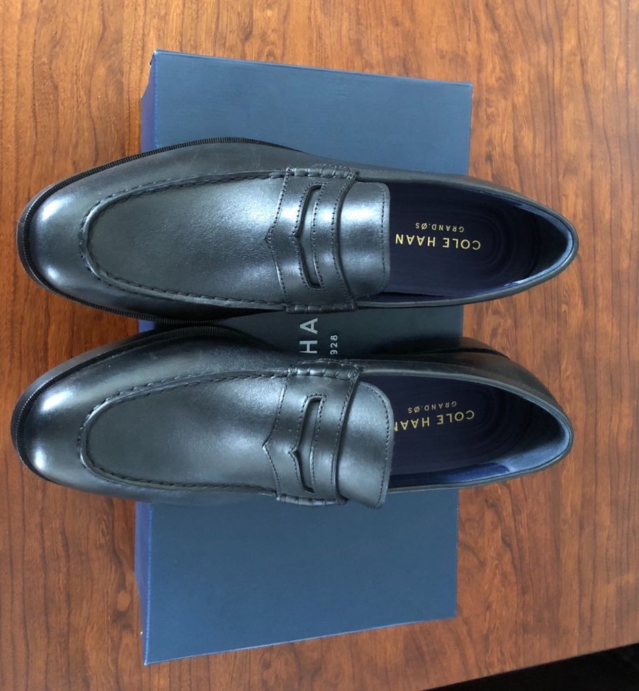 43854e5d8b8 cole haan hamilton grand penny loafer black leather size 9.5  fashion   clothing  shoes  accessories  mensshoes  dressshoes  ad (ebay link)