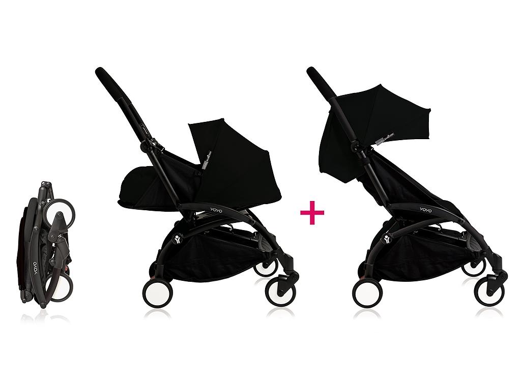 Babyzen Yoyo Kinderwagen Black Frame + Newborn Pack