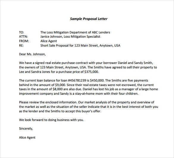 16+ Proposal Letter Templates