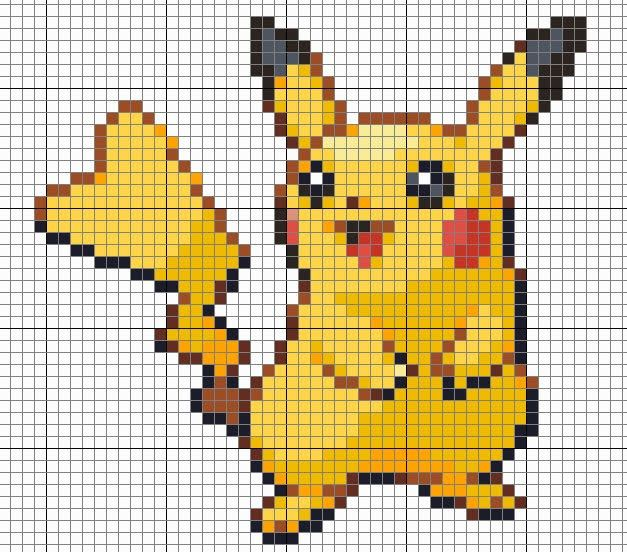 Cross Me Not Pikachu Pokemon Cross Stitch Beaded Cross