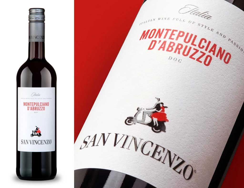 San Vincenzo Label Design Wine Bottle Bottle