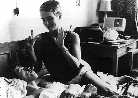 """""""It's sad to fall asleep. It separates people. Even when you're sleeping together, you're all alone."""" -Breathless, 1960"""