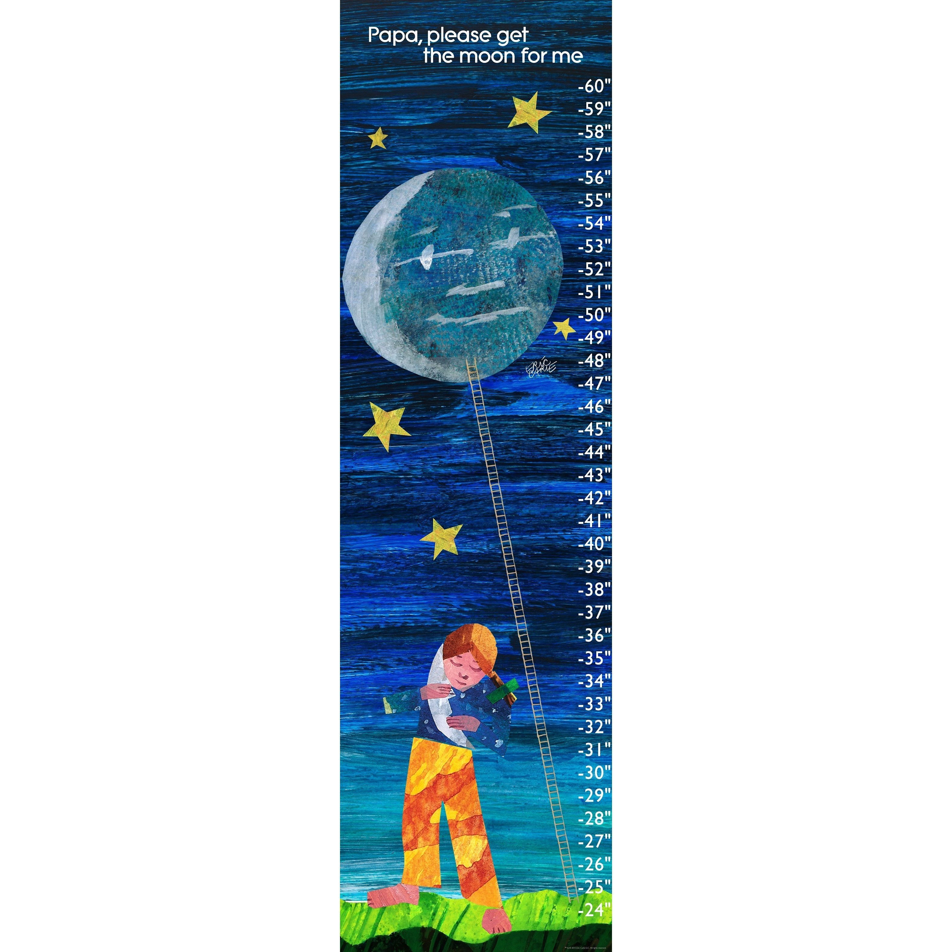 Get the moon for me products pinterest moon online art the world of eric carle eric carle moon canvas growth chart nvjuhfo Choice Image