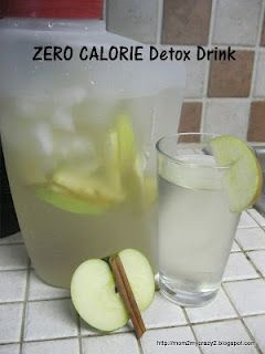 boost your metabolism naturally with this ZERO CALORIE Detox Drink: Apple Cinnamon Water 0 Calories. Put down the diet sodas and crystal light and try this out for a week. You will drop weight and have TONS OF ENERGY!