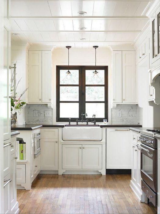 Cocinas peque as modernas 2018 y 2017 de 150 fotos e for Ideas para cocinas pequenas modernas