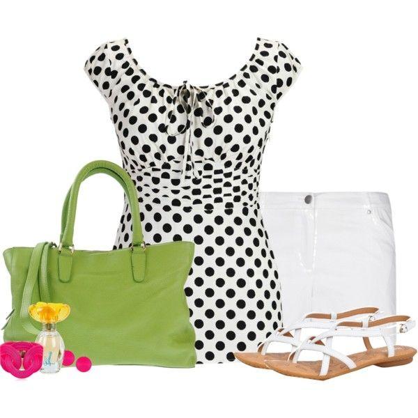 Summer (eShakti Women's Pleated empire waist polka dot blouse $34)
