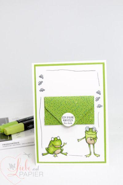 Karte mit Geldfach (Stampin' Up! Froschkönig) #stampinup!cards