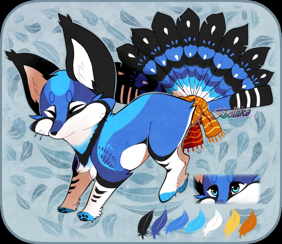 Bluejay Foxfan Custom By Belliko-art.deviantart.com On
