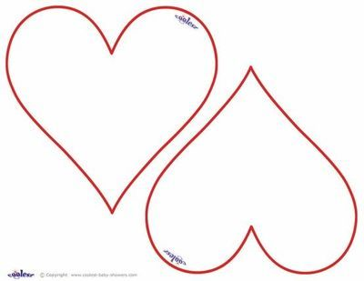 Heart Template  Another Heart Template Two To A Page  Preschool