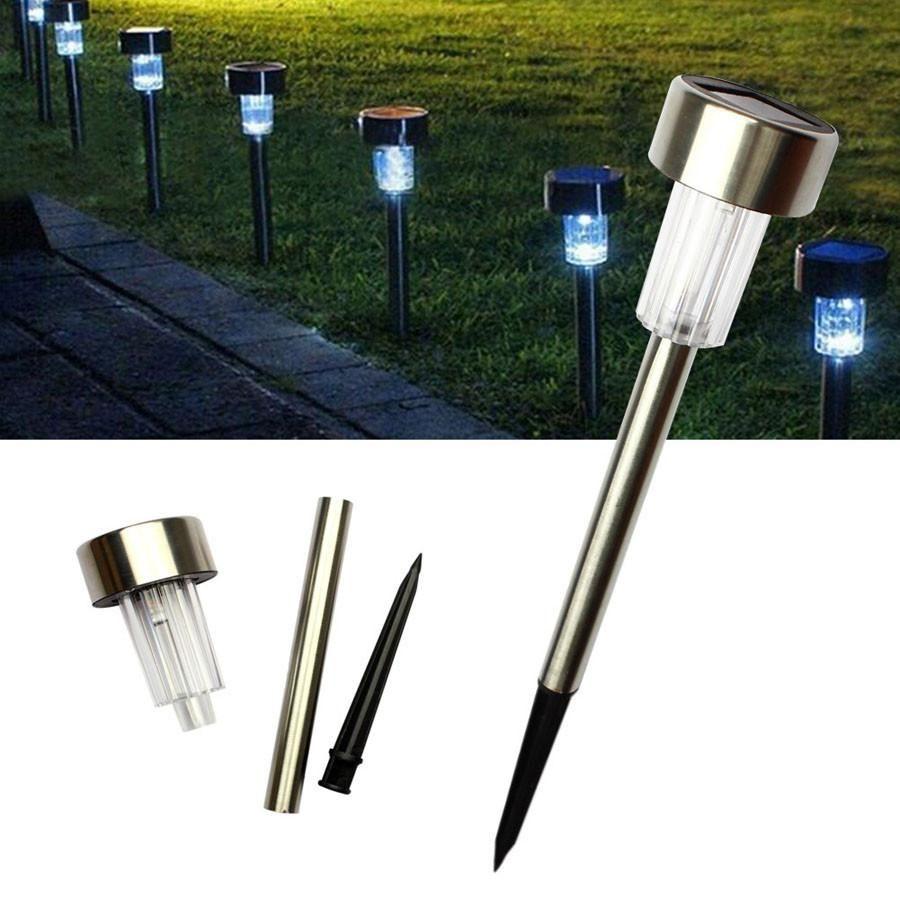 Elfeland Solar Ground Lights 8 Leds Garden Light Waterproof Auto On//Off Landscap