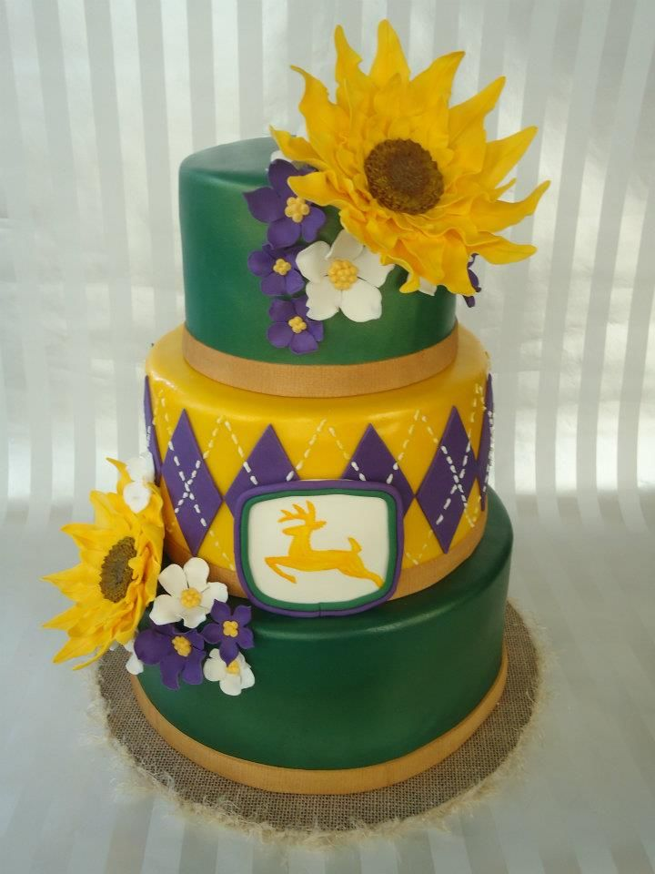 John Deere Themed Wedding Cake by You\'nique Cakes | Wedding Cake ...