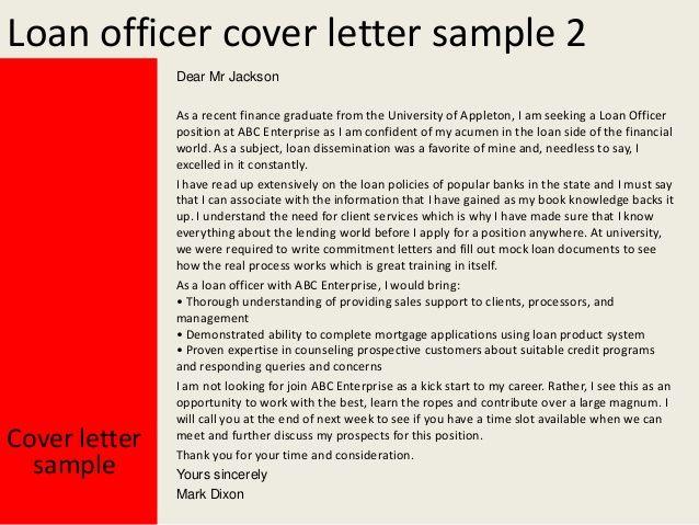 Loan officer cover letter news to go 3 pinterest loan officer cover letter altavistaventures Choice Image
