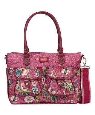 Pink French Flowers Medium Convertible Tote