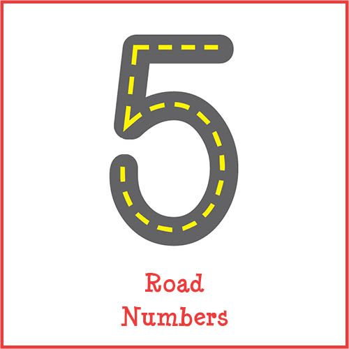 road numbers number formation maths and activities. Black Bedroom Furniture Sets. Home Design Ideas