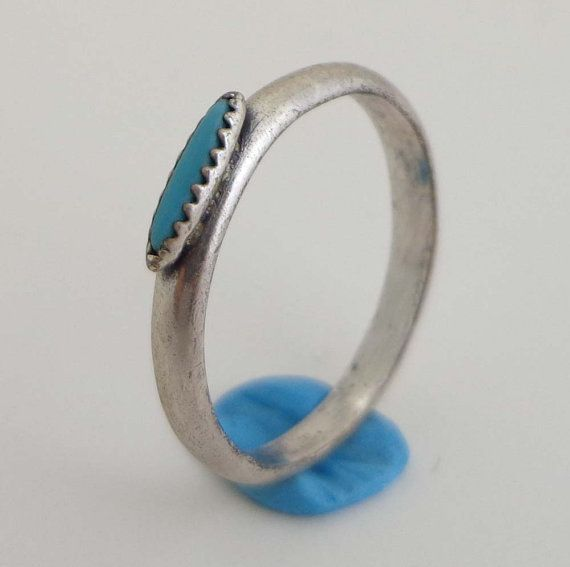 Bell Trading Post Turquoise Sterling Size 6 By