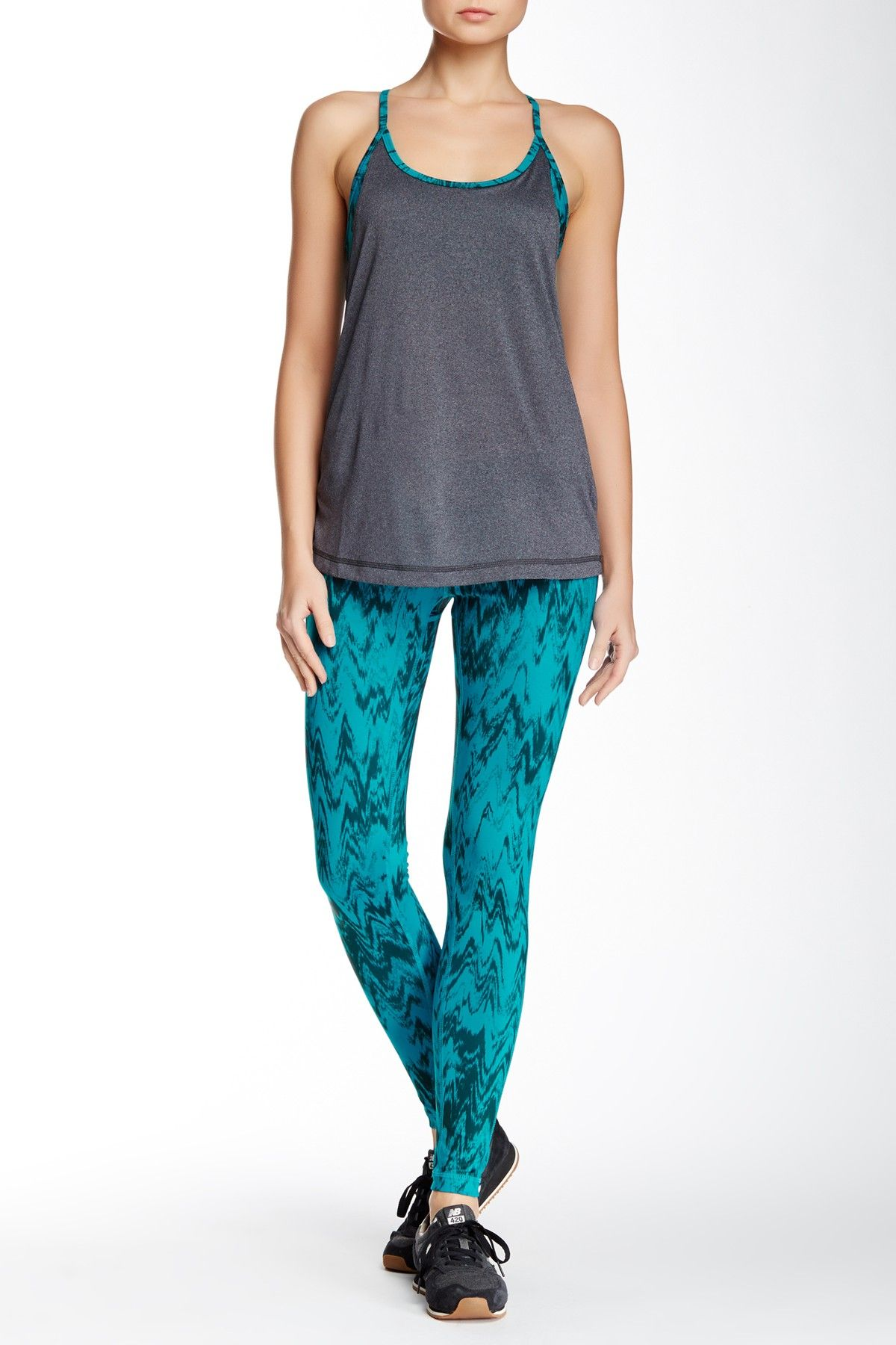 840373737ac21 Z By Zella | Slim Ikat Print Legging | Fashionable Fitness | Ikat ...