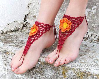 5e04c90145b1 CORAL Crochet barefoot sandals