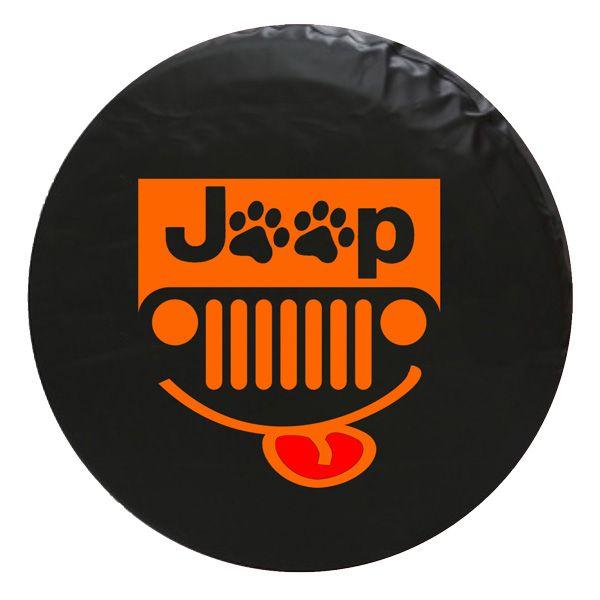 Jeep Paw Grill Vinyl Spare Tire Cover Orange Jeeptirecovers Jeep Jeepgrill Tire Cover Jeep Tire Cover Spare Tire Covers