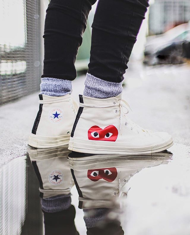 95ccac0f328 Comme des Garçons x Converse Chuck Taylor®  PLAY - Hidden Heart  High Top  Sneaker