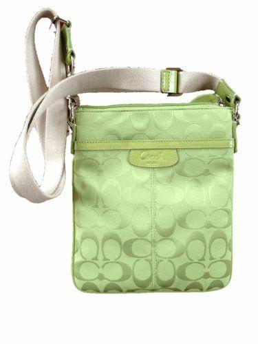 725f411719  160   Coach Signature Swingpack Purse Lime Green 7.5
