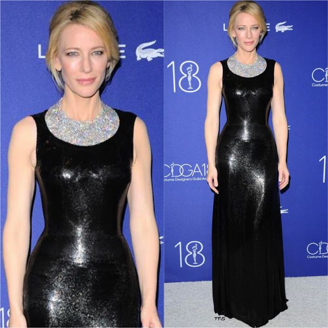 Cate Blanchett in Atelier Versace at the 18th Costume Designers Guild Awards