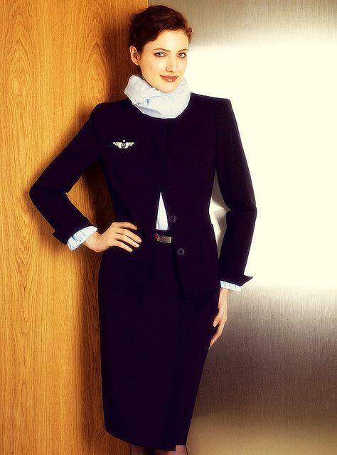 Air France Stewardess Flight Attendant Uniform Air France Fly Girl