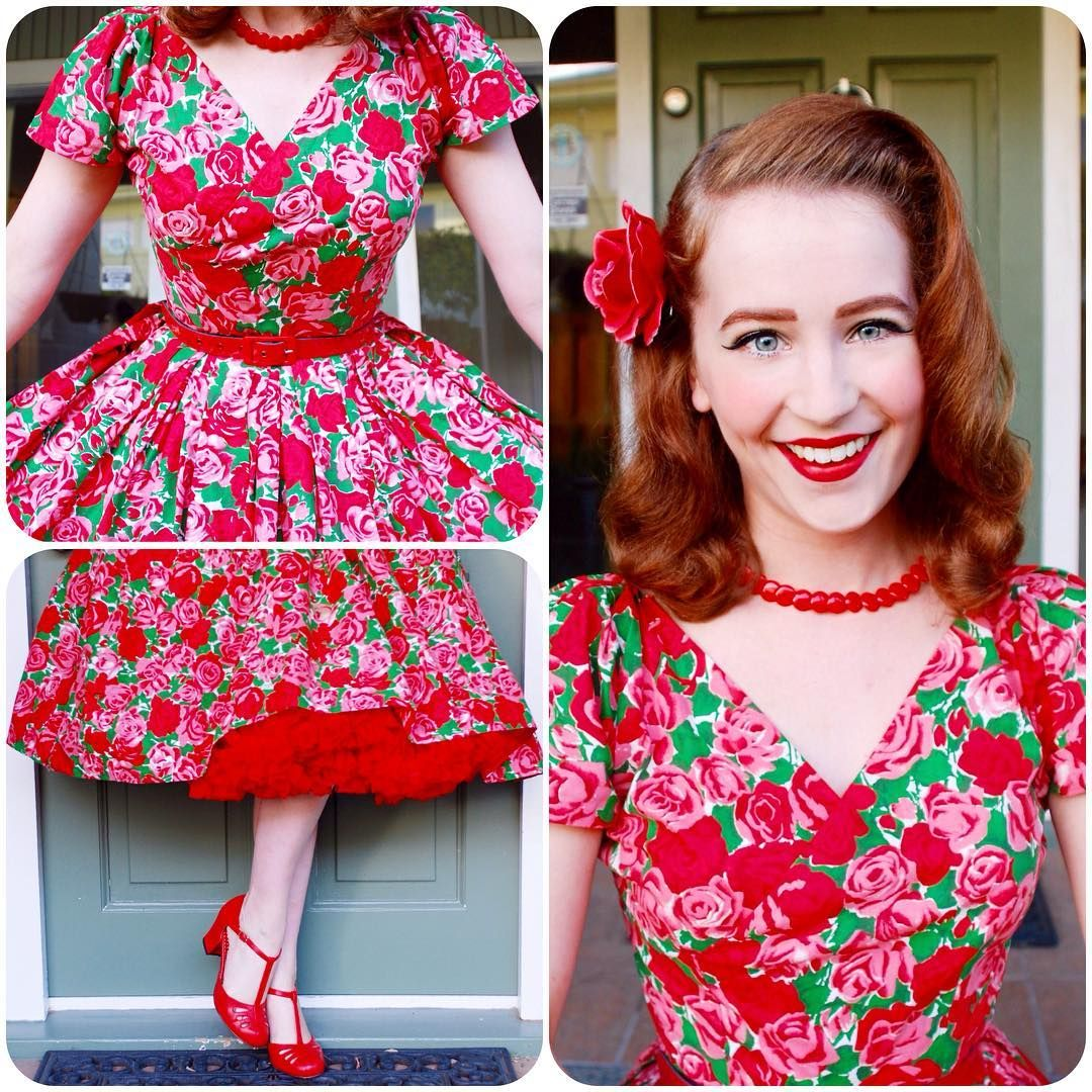 """Yesterday's outfit details! ❤️❤️ #pinup #pinupgirl #pinupstyle #modernpinup #vintage #vintagegirl #vintagehair #vintagestyle #retro #ootd #ootdsocialclub…"""