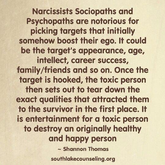 Who do sociopaths target