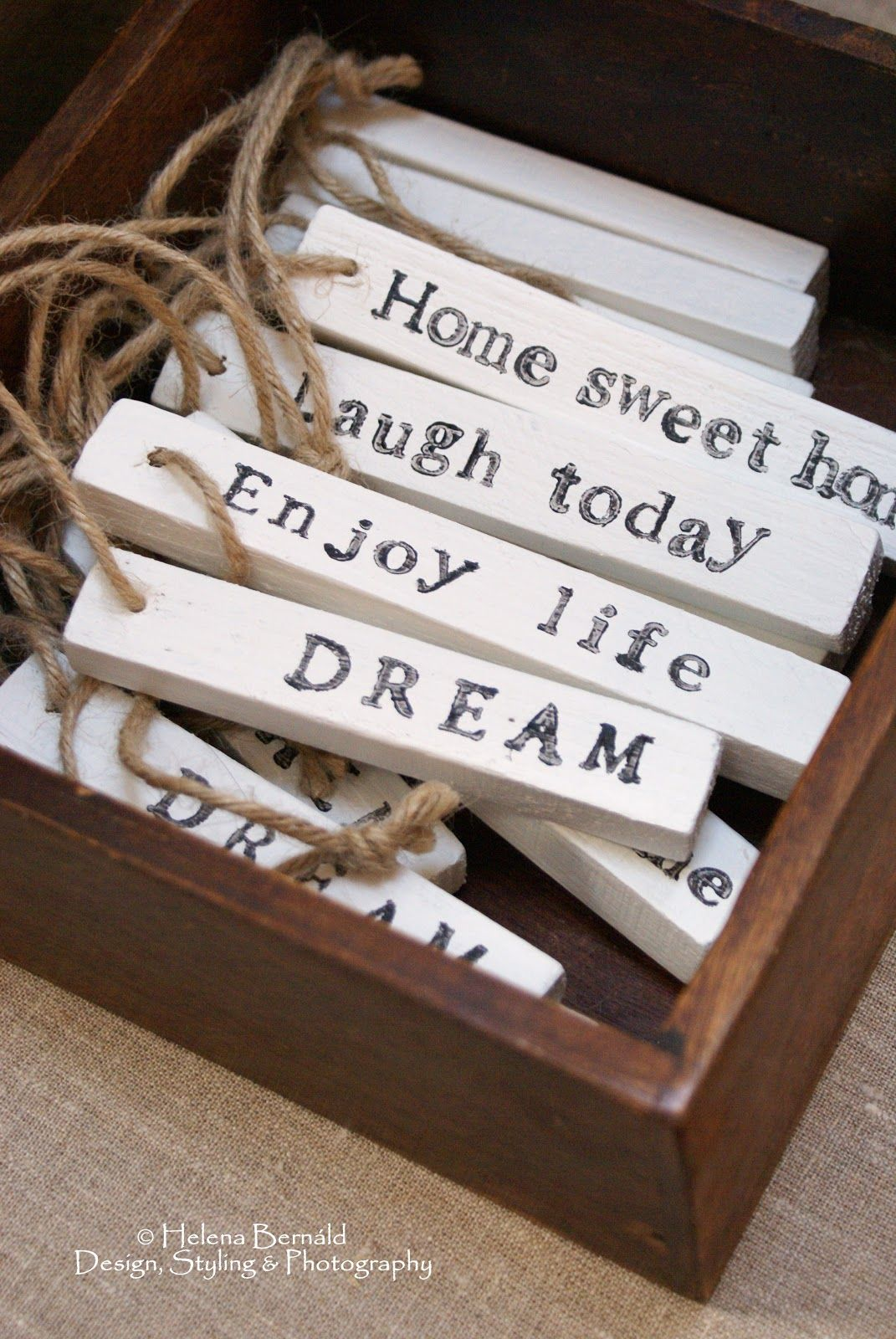 The Swenglish Home Christmas Handmade Word Ornaments Ooo I Like This Idea Wouldnt This Be A Great Gift For The Person Just Starting Out In Their Own