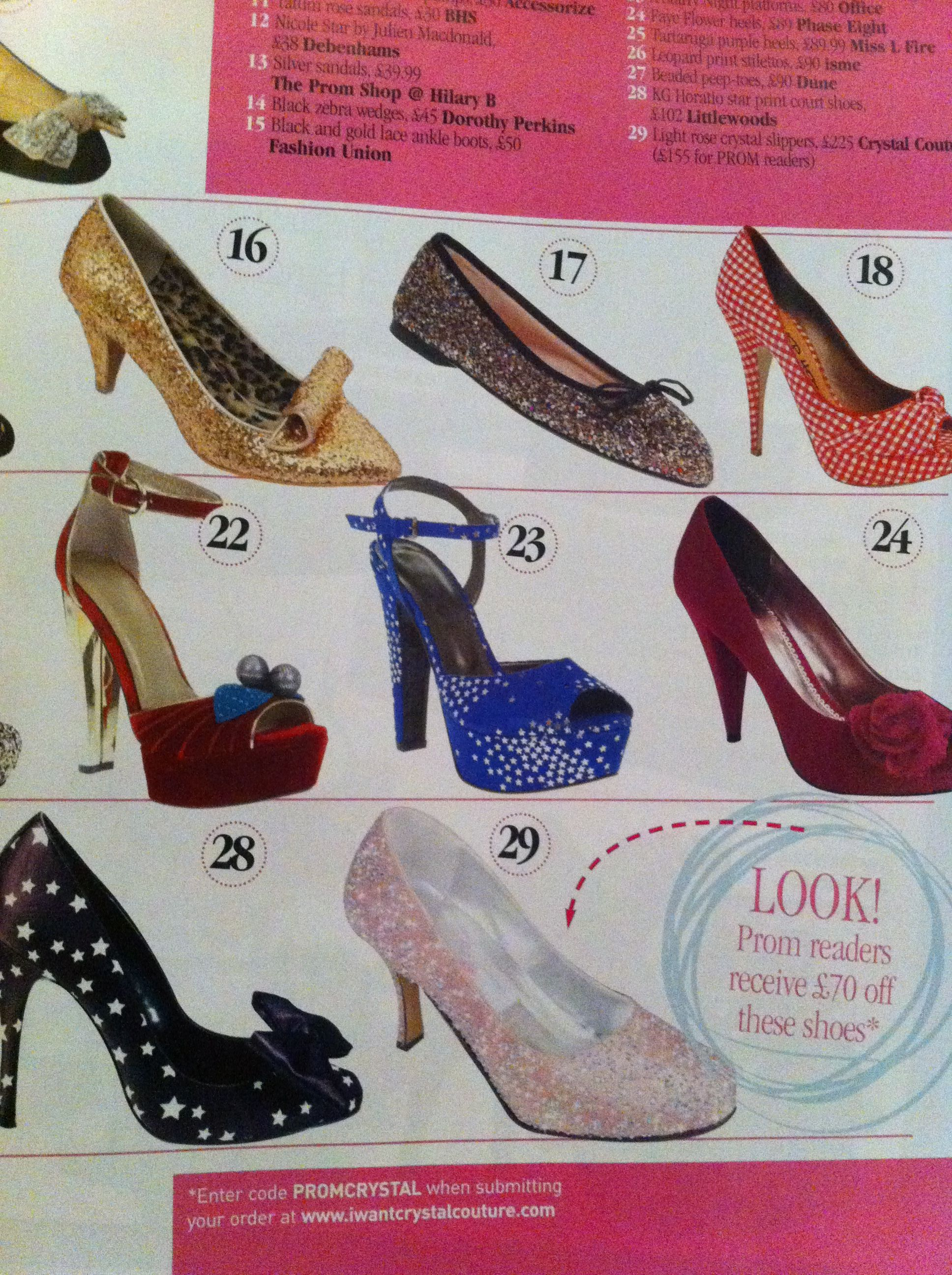 7085b1af7 Crystal Couture Shoes featured in Prom Magazine our beautiful light rose crystal  slipper. This shoes