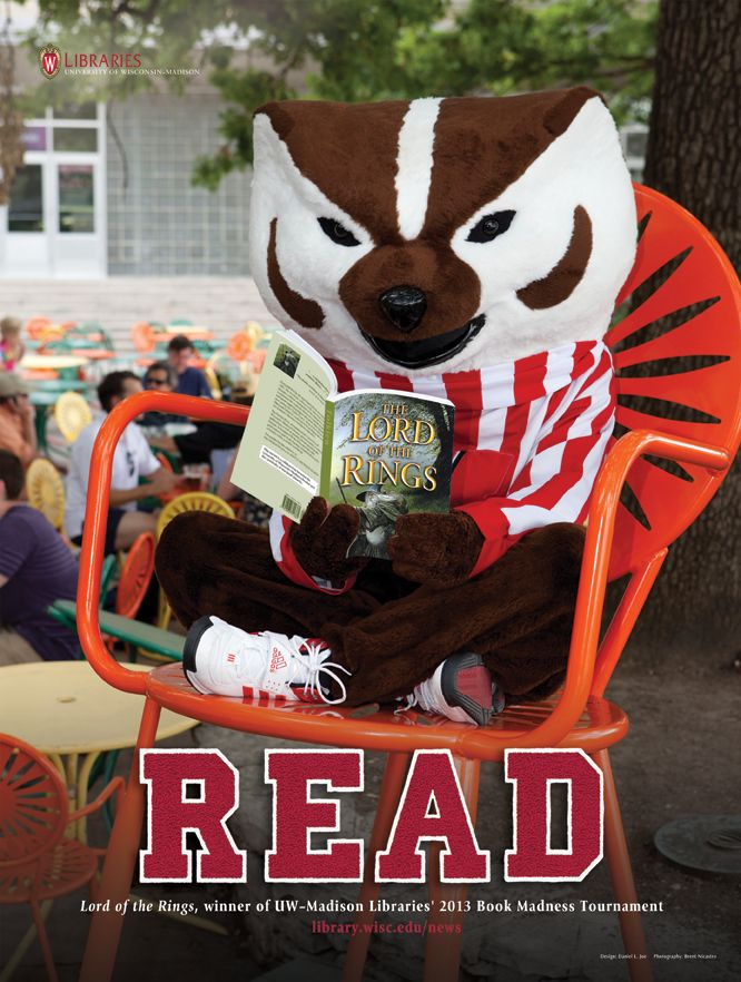 New Book Madness Bucky Read Posters Are Available Bucky Badger Bucky Wisconsin Badgers