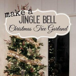 make a jingle bell christmas tree garland christmas tree garland