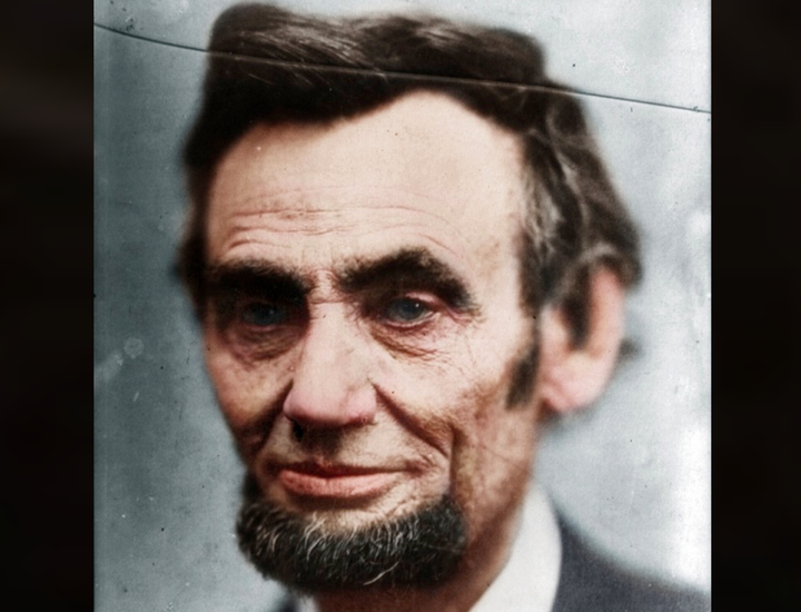 Abraham Lincoln Full Body In Color