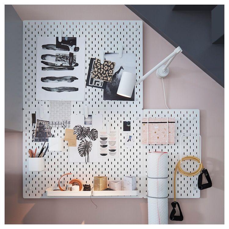 Skadis Lochplatte Weiss Ikea Deutschland In 2020 Peg Board Ikea White Pegboard