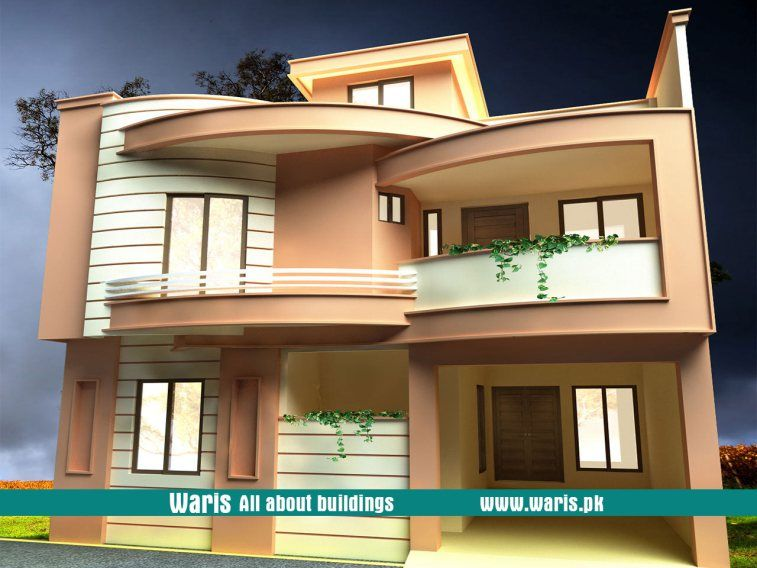 Waris House 3d View Elevation 30x40 In Gujranwala Cantt Pakistan House Front Interior Design Images House Elevation
