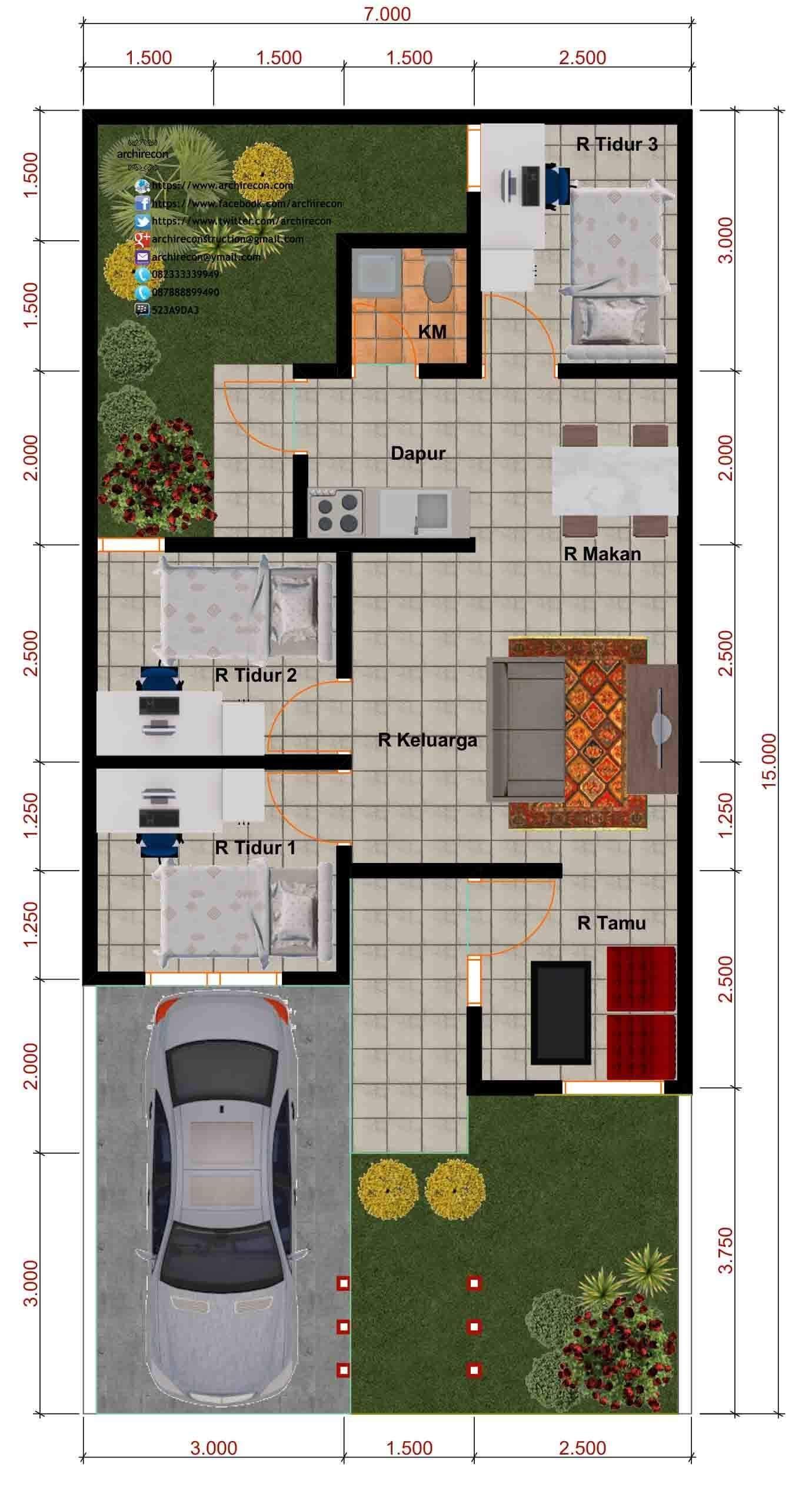 Amazing Beautiful House Plans With All Dimensions Engineering Discoveries Denah Rumah Denah Rumah Pedesaan Rumah Minimalis