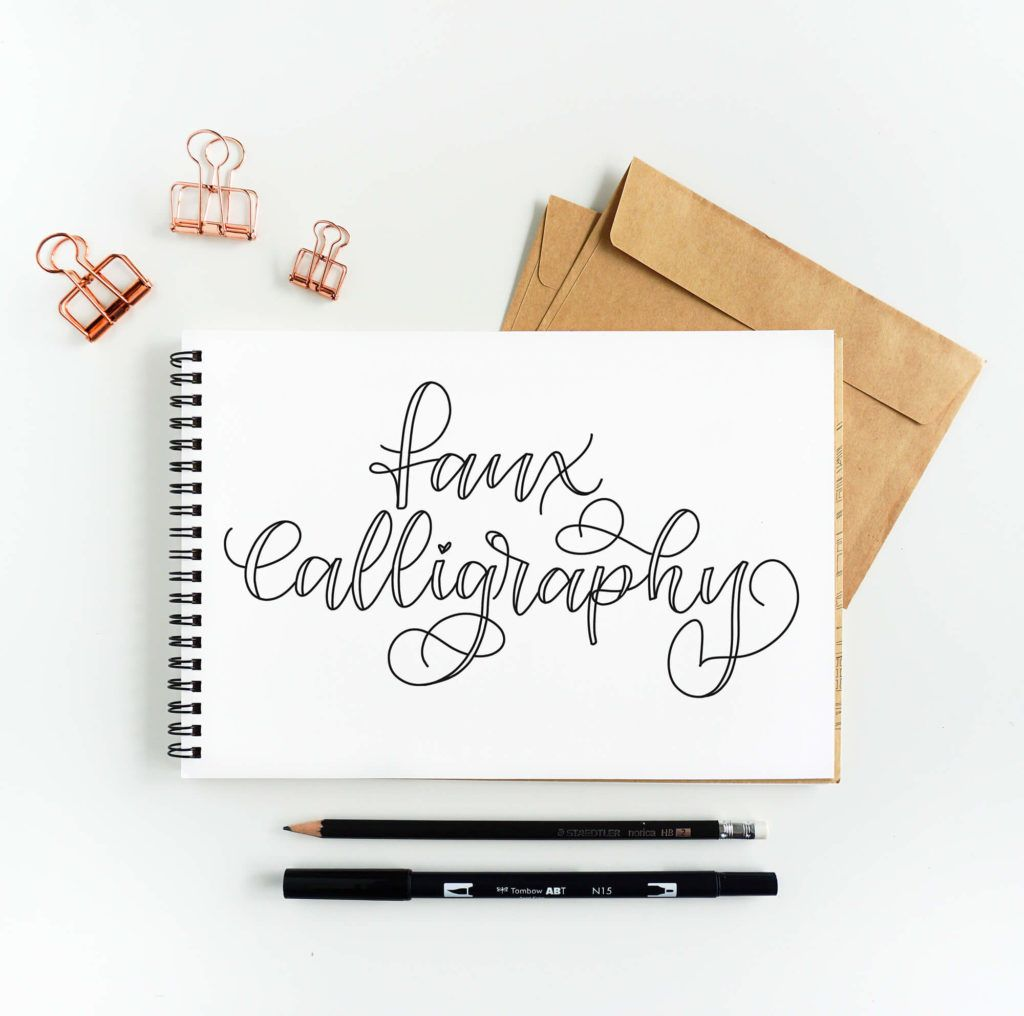 Learn How To Make Faux Calligraphy